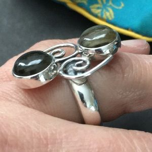 Jewelry - Sterling silver/moonstone statement ring size 7